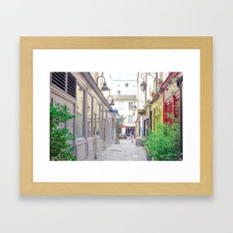 Alleys in Paris Framed Art Print