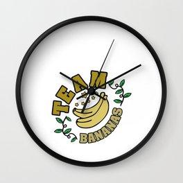 Hand Drawn Illustrations Team Bananas Gift Wall Clock