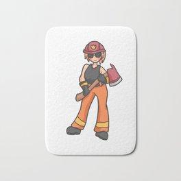 Firemen Girl Power Girl Power Mama 112 gift Bath Mat