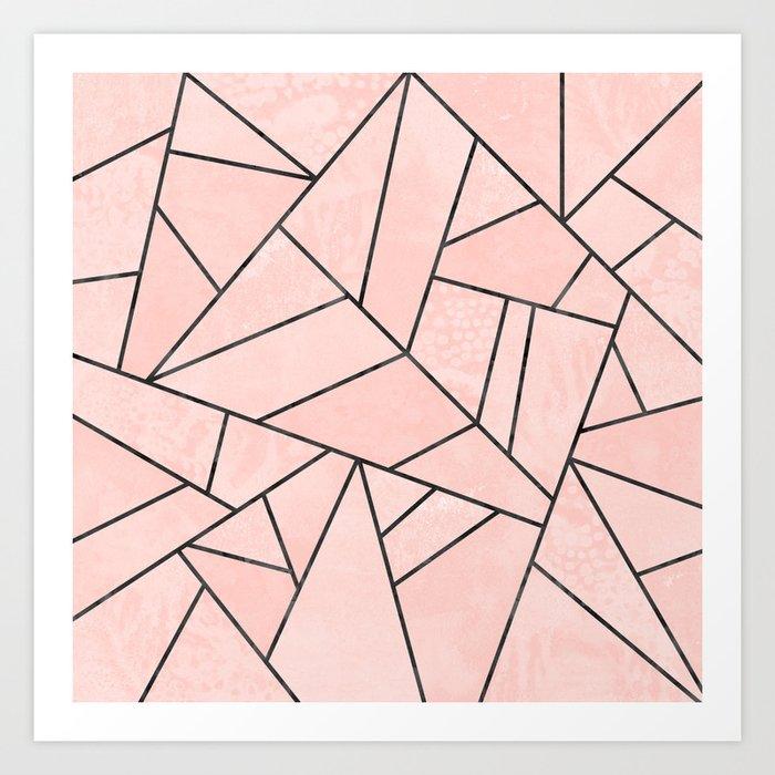 Rose Stone Art Print