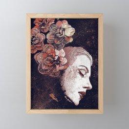 Obey Me: Blood (graffiti flower woman profile) Framed Mini Art Print