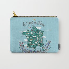 Map of french vineyards Carry-All Pouch