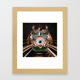 One Way Ride Framed Art Print