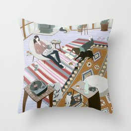 Sisters Room Throw Pillow