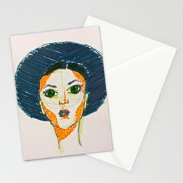 Blue Hat Girl Stationery Cards