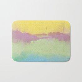 Modern Pastel Pallet Abstract Design Bath Mat