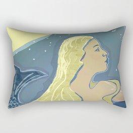 Mermaid / Venus Rectangular Pillow