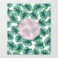 Monstera Pattern V1 #society6 #decor #buyart Canvas Print
