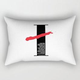 No Longer I. Galatians 2:20 Rectangular Pillow
