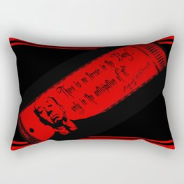 """There is no terror in the BANG...""-Alfred Hitchcock Rectangular Pillow"