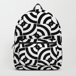 Black And White Pop-Art Circles Backpack