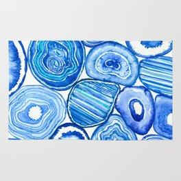 Blue agate slices Rug