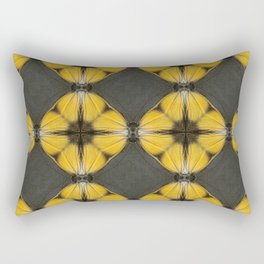 Yellow Butterfly Pattern Rectangular Pillow