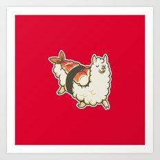 Alpaca Sushi Niguiri I Art Print