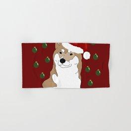 Shiba inu Dog Christmas Hand & Bath Towel
