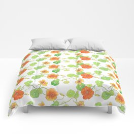 Nasturtium Flowers Comforters