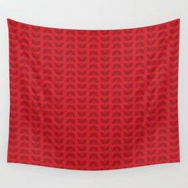 Scarlet Leaves Wall Tapestry