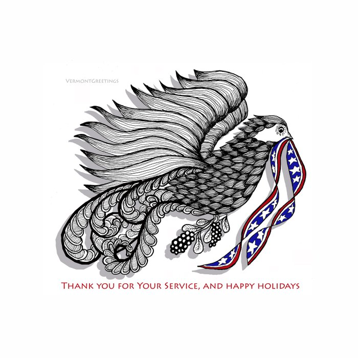 Veterans Happy Holiday and Thank You for Your Service - Zentangle Illustration Comforters