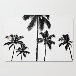 Monochrome tropical palms Cutting Board