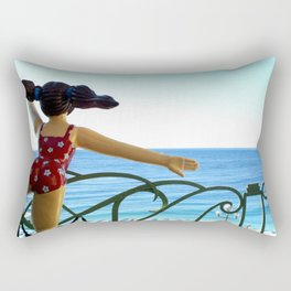 Look at the Beach! Rectangular Pillow