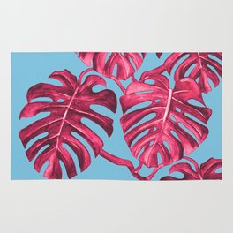 Monstera deliciosa, Swiss cheese plant, tropical, palm Rug