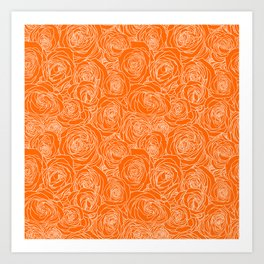 Marmalade Roses Art Print