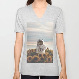 The Sunflower Galaxy, Messier 63 Unisex V-Neck