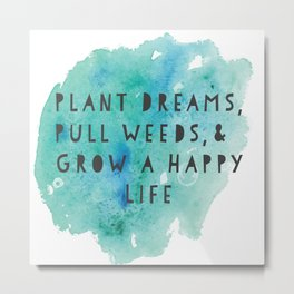 Plant Dreams Metal Print