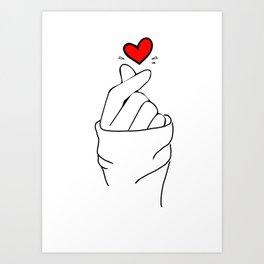 LOVE HAND Art Print