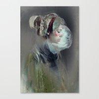 collage Canvas Prints featuring Self portrait by Feline Zegers