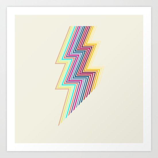 80's lightning Art Print