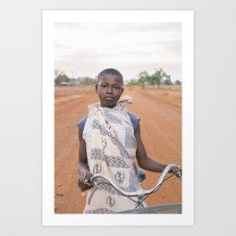 girl on the bike Art Print