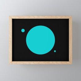 Turquoise Sun Framed Mini Art Print