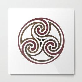 St. Patrick's Day Celtic Red Mandala #5 Metal Print