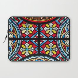 Stained glass window colorful color Laptop Sleeve
