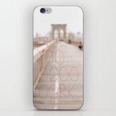 New York romantic typography vintage photography iPhone & iPod Skin