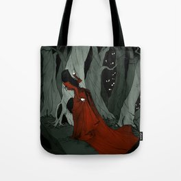 Snow White Lost in the Woods Tote Bag