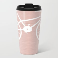 Pink Bike by Friztin Metal Travel Mug