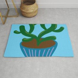 Blue pot cactus Rug