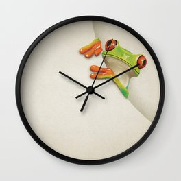 Little Red Eyed Tree Frog Wall Clock