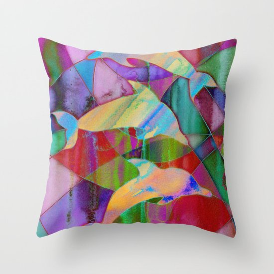 Caught in rainbow nets Throw Pillow