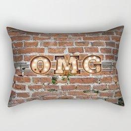 O M G  - Brick Rectangular Pillow