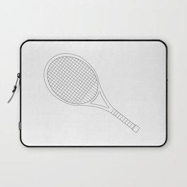 Tennis Racket Outline Laptop Sleeve