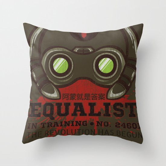 Equalist in Training Throw Pillow