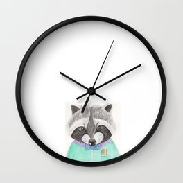 Ronnie the Raccoon: Math & Science Rocks! Wall Clock