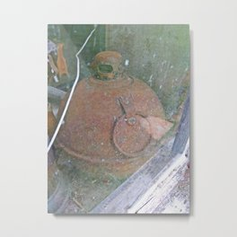 Antique Road Flare in Barn Window Metal Print