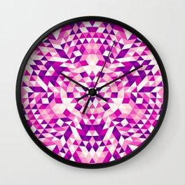 Pink Shards Wall Clock