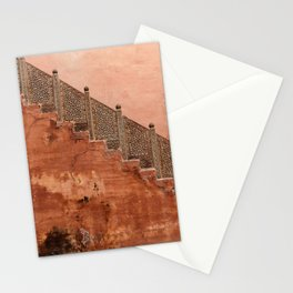 Terracotta wall in Rajasthan, India, travel Photography  Stationery Cards