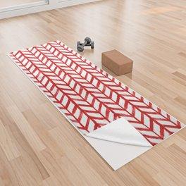 Shibori Chevrons - Peppermint Yoga Towel