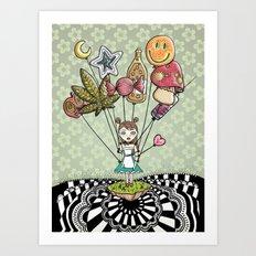 Alice in drugs Art Print